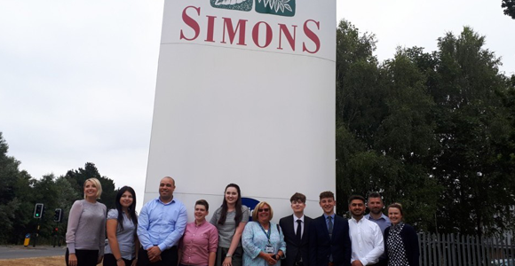 Simons Group signs-up eight Lincoln College apprentices